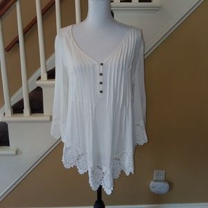 Casual / Dressy Lace Detail Blouse Top NWOT